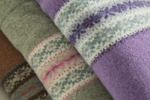 Cosy lambswool blankets