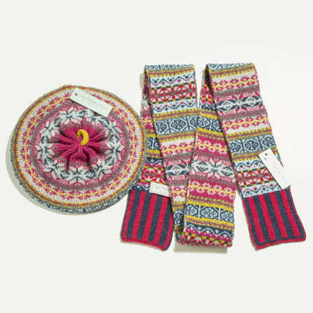 Fairisle Scarf & Beret Set – Louise Wedderburn Designs